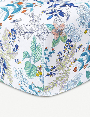 YVES DELORME Flora cotton-percale fitted sheet