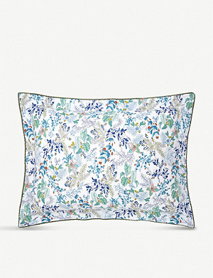 YVES DELORME Flora cotton-percale pillowcase 50x75cm