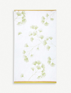 YVES DELORME Ginkgo cotton-jacquard bath sheet