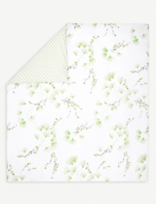 YVES DELORME Ginkgo leaf-print cotton-percale duvet cover