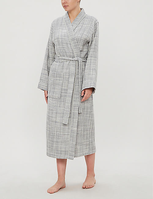 YVES DELORME Leo cotton bathrobe