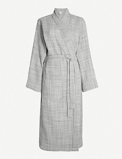 YVES DELORME: Leo cotton bathrobe