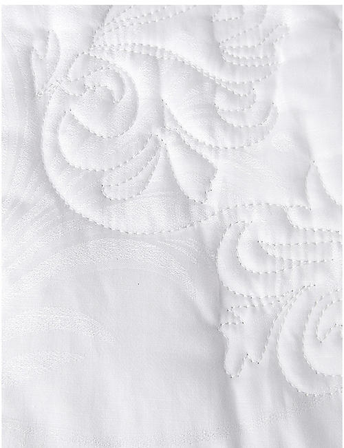 YVES DELORME Nymphe cotton bedcover throw 275 x 260 cm