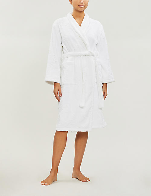 YVES DELORME Nymphe embossed-pattern cotton bath robe