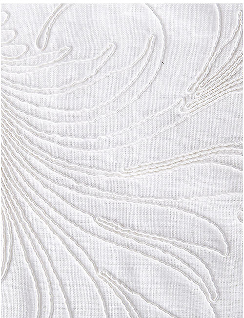 YVES DELORME Nymphe cotton and linen-blend counterpane 200cm x 150cm