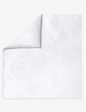 YVES DELORME Nymphe white single duvet cover