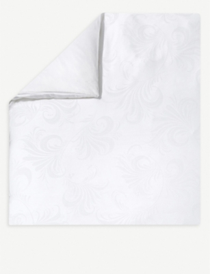 YVES DELORME Nymphe jacquard cotton and linen-blend duvet