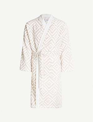 YVES DELORME Ombrage cotton bathrobe