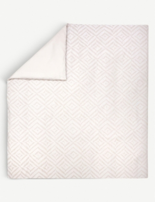 YVES DELORME Ombrage chevron cotton-jacquard duvet cover