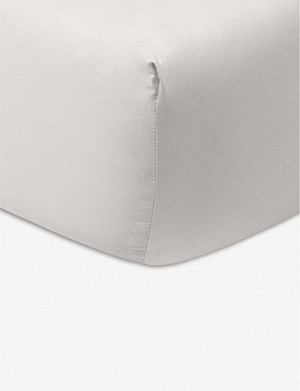YVES DELORME Ombrage chevron cotton-jacquard fitted sheet