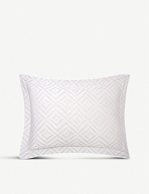 YVES DELORME Ombrage chevron cotton-jacquard standard pillowcase 50x75cm