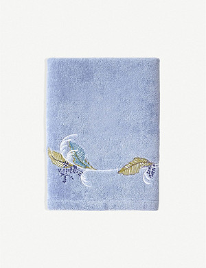 YVES DELORME Palmes cotton-jacquard bath sheet