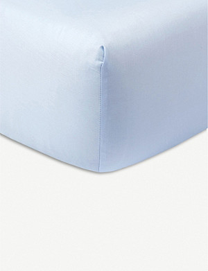 YVES DELORME Palmes cotton-jacquard fitted sheet