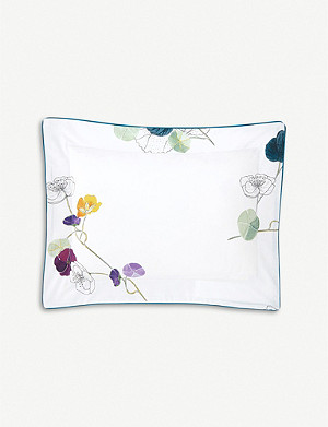 YVES DELORME Pavot cotton-percale pillowcase 30x40cm
