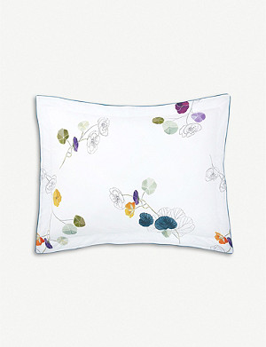 YVES DELORME Pavot cotton-percale pillowcase 50x75cm