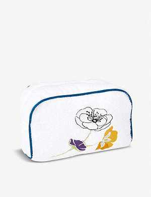 YVES DELORME Pavot cotton toiletries bag