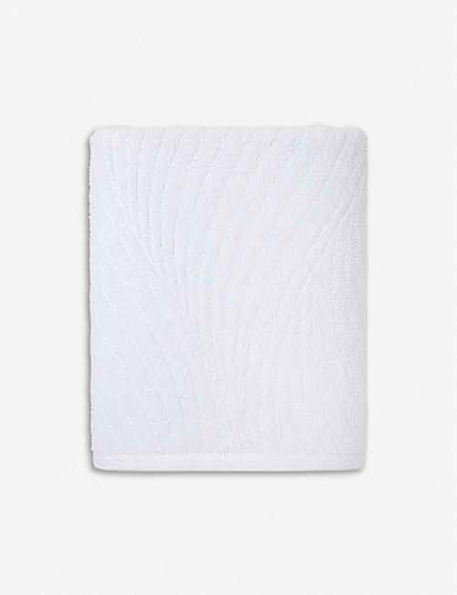 YVES DELORME Plissé cotton jacquard bath sheet