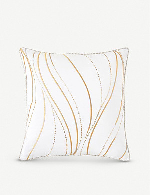 YVES DELORME Plisse wave cushion cover
