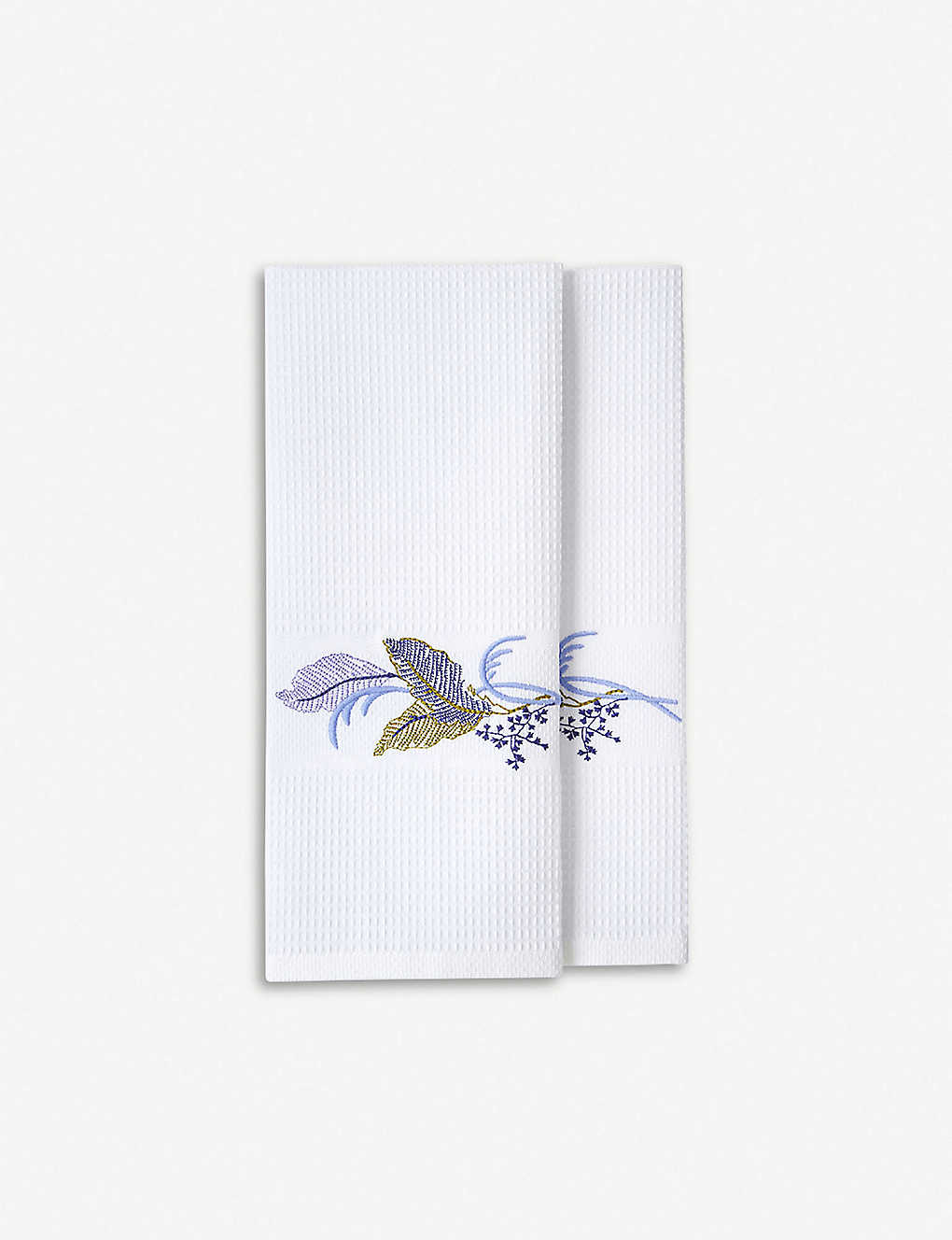 YVES DELORME: Plumes cotton-terry towel