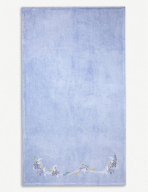 YVES DELORME Plumes cotton-terry towel