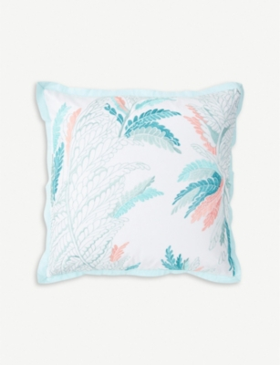 YVES DELORME Sources printed silk and cotton-blend cushion cover 45cm x 45cm
