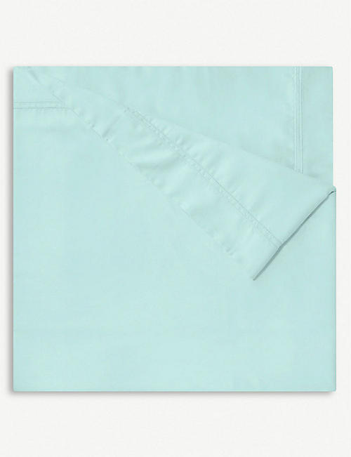 YVES DELORME Triomphe Celadon single cotton duvet cover 140x200cm