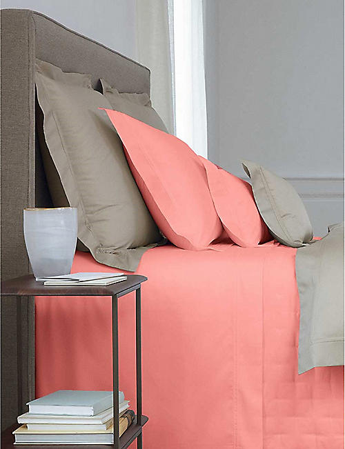 YVES DELORME Triomphe egyptian-cotton fitted sheet