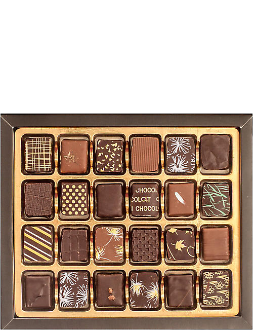 ARTISAN DU CHOCOLAT Black and Gold Couture box of 24