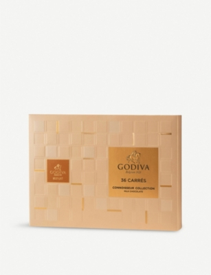 GODIVA Milk chocolate carres box of 36