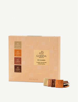 GODIVA Chocolate carres assortment box of 60