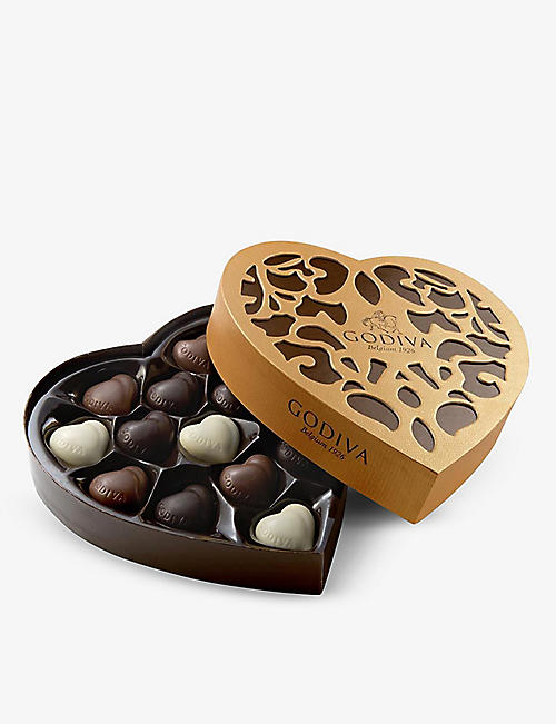 GODIVA: Coeur Grand chocolates box of 14