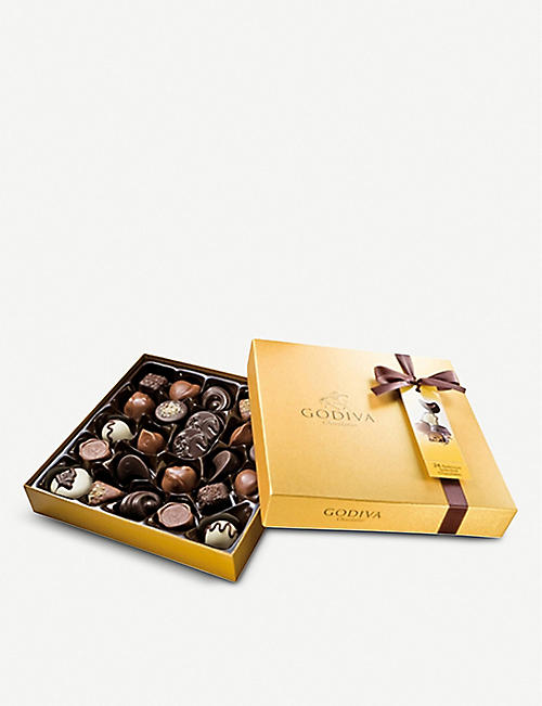 GODIVA Gold Ballotin 24-piece assorted chocolates box 290g