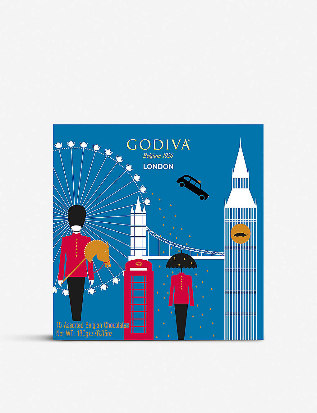 GODIVA: London Souvenir chocolates box of 15