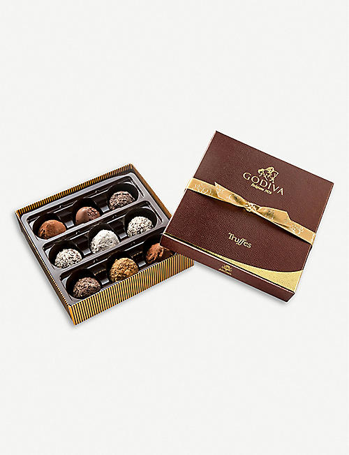 GODIVA Truffe Signature assorted chocolate truffles box of nine