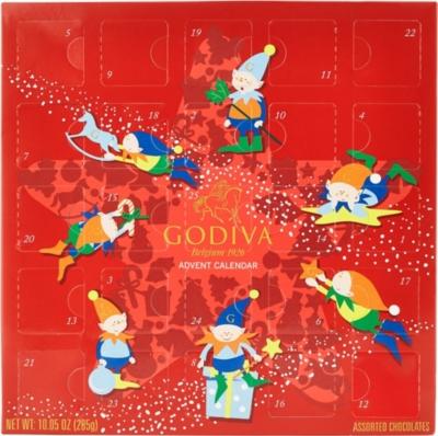 Godiva Advent Calendar.Godiva Christmas Advent Calendar Selfridges Com