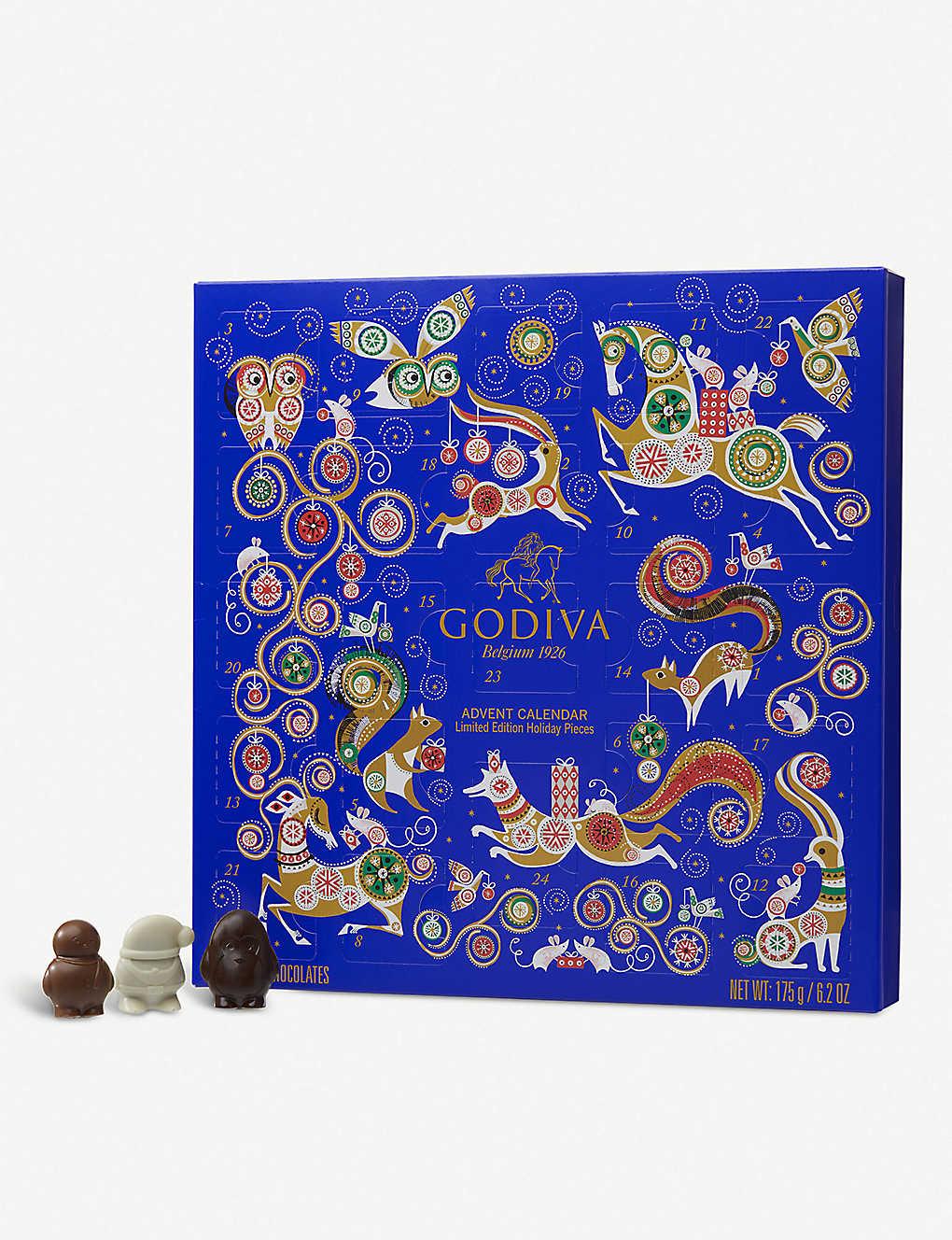 Godiva Advent Calendar.Godiva Chocolate Advent Calendar Selfridges Com