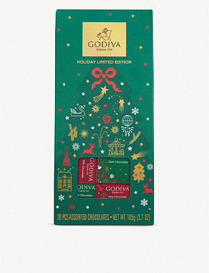 GODIVA Limited Edition Christmas chocolate carrés pouch 105g