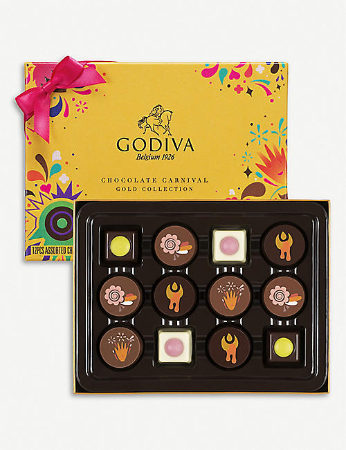 GODIVA Chocolate Carnival Gold Collection box of 12