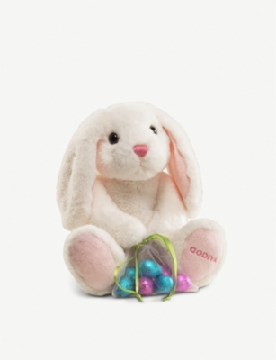 GODIVA Plush Bunny with chocolate easter eggs 90g