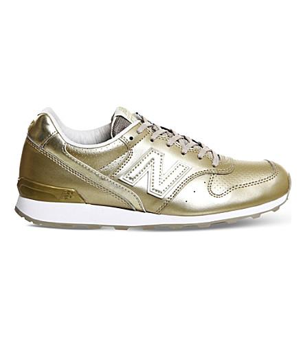 brand new 450f6 22c57 NEW BALANCE - 996 metallic leather trainers | Selfridges.com