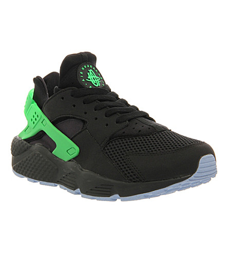 best cheap 0e5ee e7fa5 NIKE Air Huarache Ru FB trainers (Black+poison+green+f