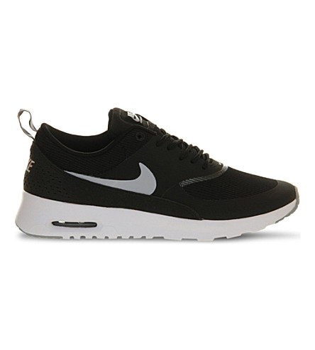 Nike Women's Air Max Thea Running Sneakers From Finish Line In Black Grey White