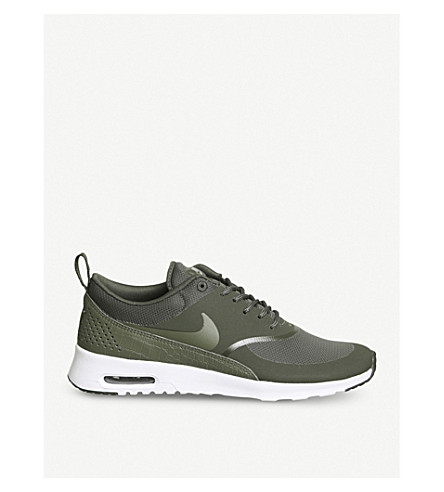 low price nike air max thea trainers in khaki b3e64 d43cc