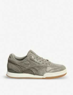REEBOK Phase 1 Pro snake-print suede trainers