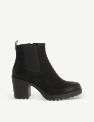 VAGABOND Grace heeled leather chelsea boot