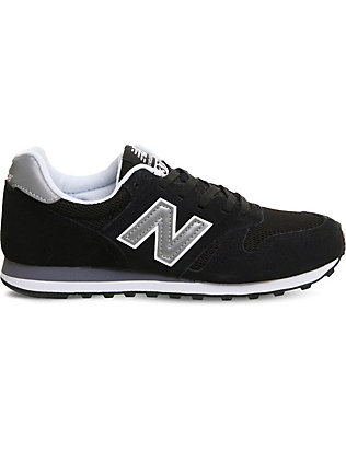 NEW BALANCE: M373 suede and mesh trainers