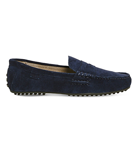 3a158cf761e POLO RALPH LAUREN Wes slip-on suede loafers (Newport+navy+mono