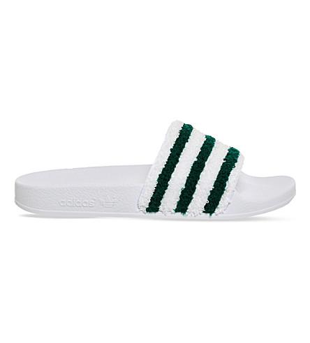 4475a43062c071 ADIDAS Adilette towel slides (White+sub+green+towl