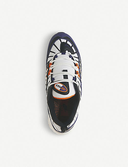 NIKE Air Max 98 faux-leather and mesh trainers