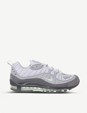 NIKE Air Max 98 leather and mesh trainers